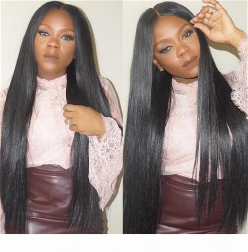 Silky straight Brazilian human hair wigs for women Virgin human hair full lace wigs lace front long straight mink hair wigs