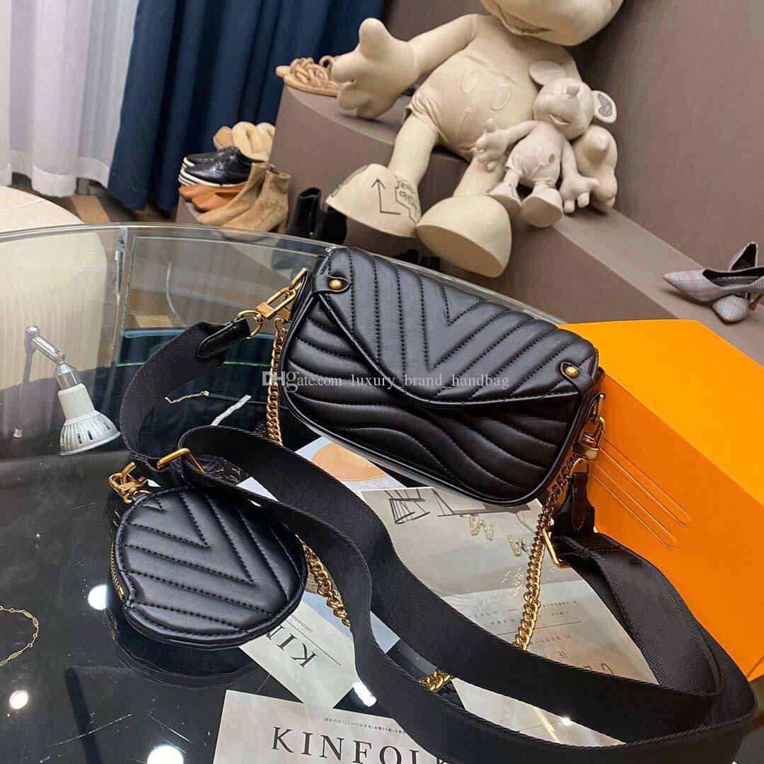 5A klassische Brieftasche Handtasche Damenmode Tasche Liebe Handtasche aus weichem Leder Umhängetasche Umhängetasche crossbodybag mit Box Großhandel 006 faltet