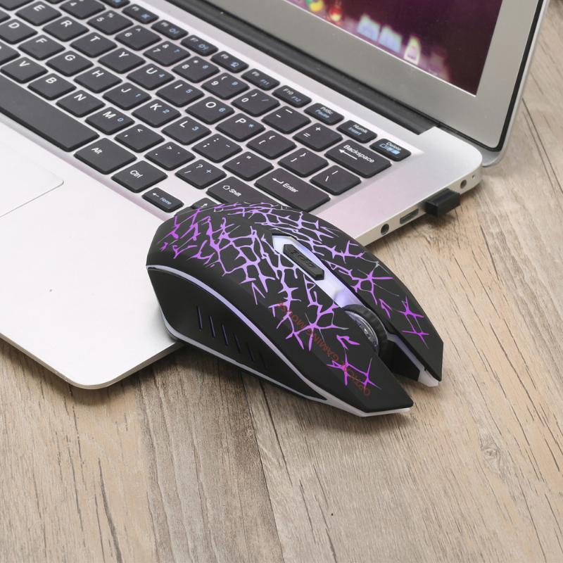 Latest Rechargeable Wireless Mouse 2400DPI Silent LED Backlit USB Ergonomic Special Edition Gaming Mouse For PC Laptop 20Jun11