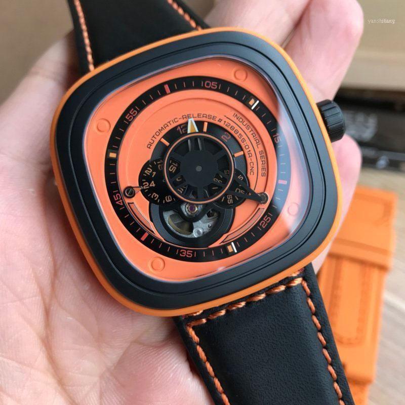 Homens assiste ao movimento automático 47 * 47mm relógios relógio relógio masculino relógio homens festa y-shaped wing design nfc verificação p1b-511