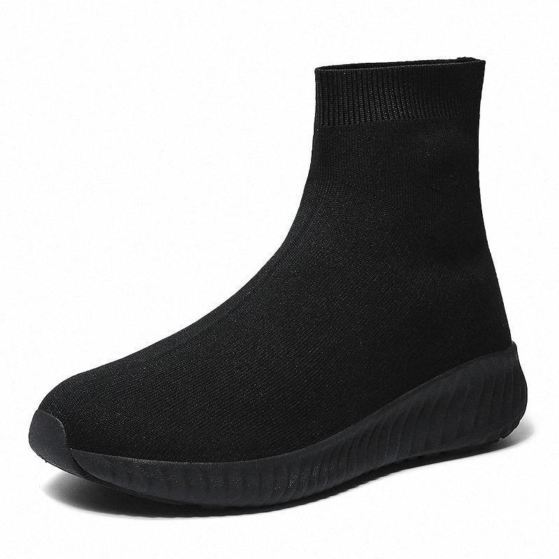 Wienjee Marke frauen turnschuhe beraubbare stoff casual schuhe frau slip auf sock schuhe mädchen turnschuhe leichte high top schuhe herbst # 9b52