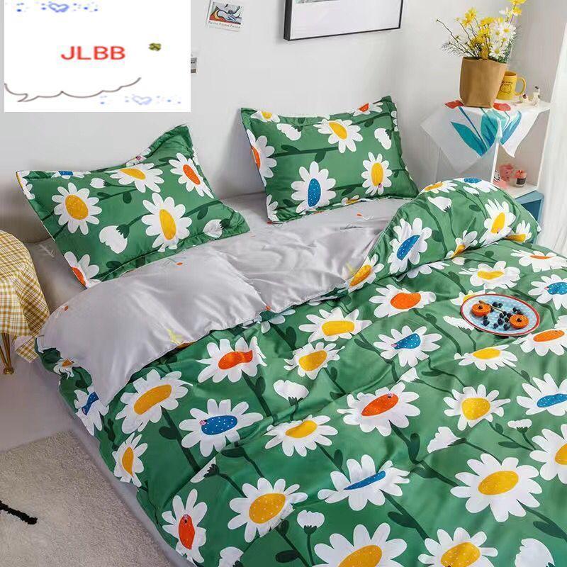 2021 Textiles para el hogar Conjunto de ropa de cama Conjunto de ropa de cama Incluye cubiertas de edredón Pastilla de cama Funda de almohada Edredón Conjuntos de cama cálida 4 PCS