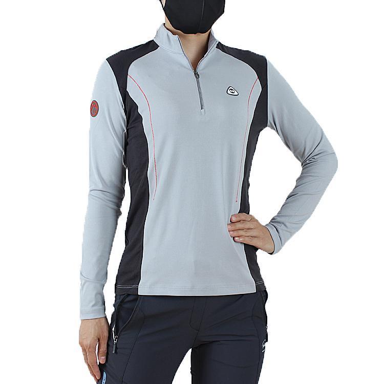 Женщины быстрые потрясные пота в пот дышащий эластичный длинный рукав тонкий туризм футболки дамы MTB велосипедные спортивные спортивные трибуки