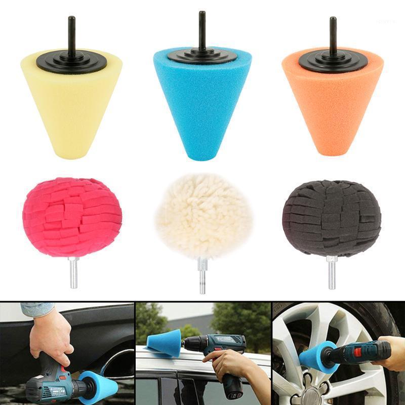 Parlatma Kolu Parlatma Sünger Konik Küresel Araba Temizleme Sünger Çevre Dostu Kullanımlık Araba Tekerlek Seti1