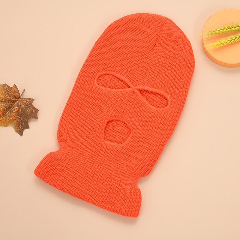 Balaclava Kapak Tam Yüz Delik Maske Beanie Üç Delik Örgü Şapka Ins Kış Kar Kayak Maskeleri Yüz Kalkanı Beanie Kulak Muff Cap Sıcak M