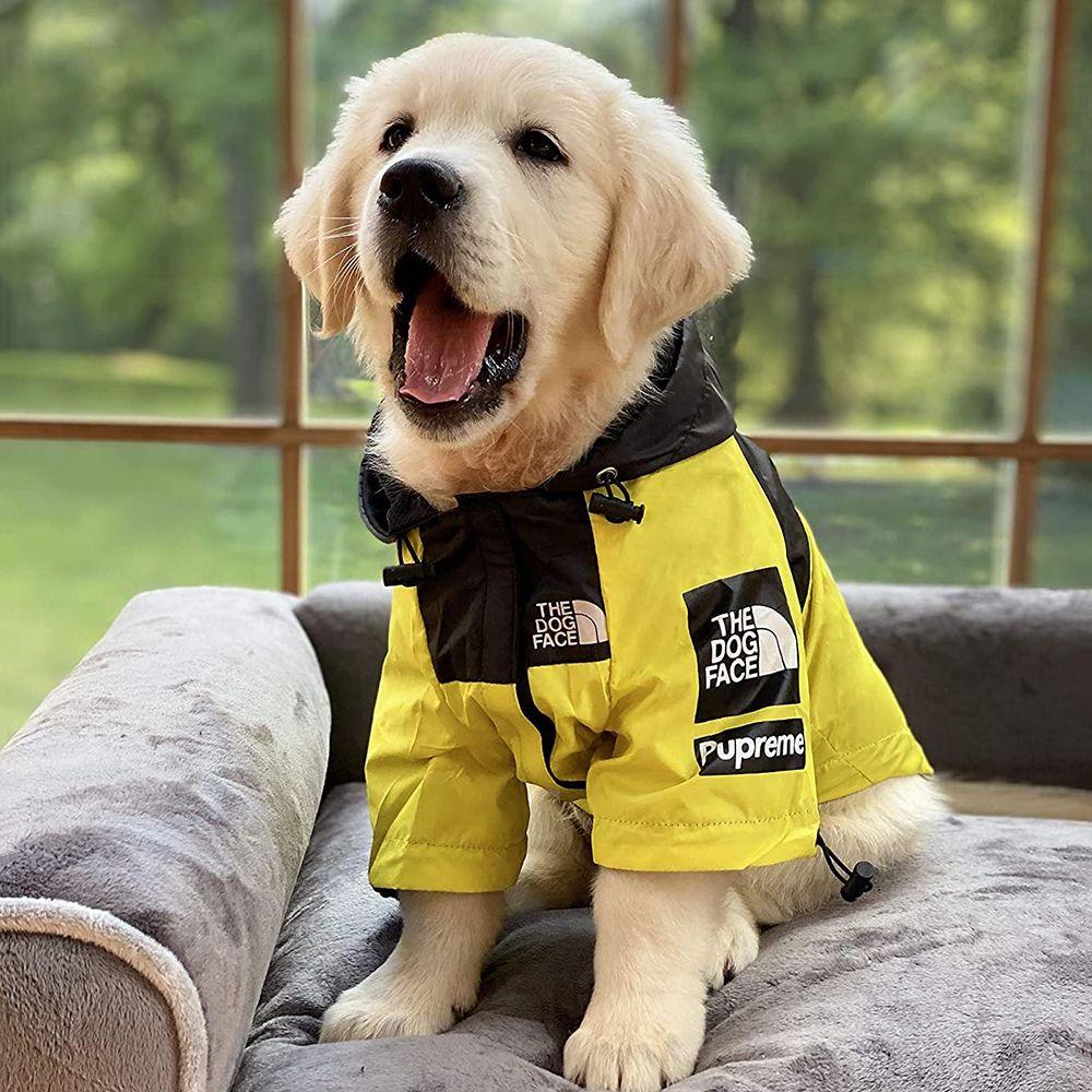 Yeni Pet Köpekler Giysi Yağmurluk Pet Giyim Için Küçük Büyük Köpek Fransız Bulldog Pug Köpekler Hoodies Rüzgarlık Ceket Köpek Için
