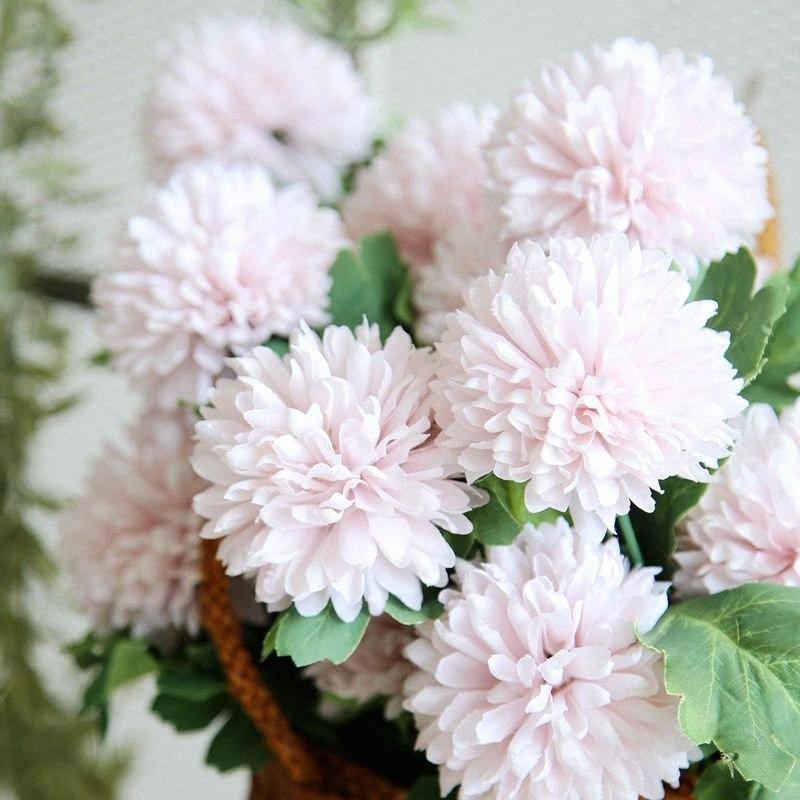 Künstliche Löwenzahn-Blume 1pcs 57cm Silk Hyazinthe Hochzeit Dekoration für Zuhause-Party-Hotel Garden Decor Rose Hintergrund-Wand Z9Jh #