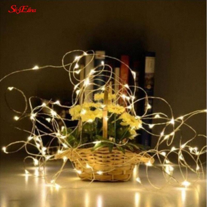 2/5 / 10meters LED Estrela Luzes Cordas férias iluminação de Luzes de Natal Garland Para Ano Novo Decoração Wedding Party 6z rqEY #