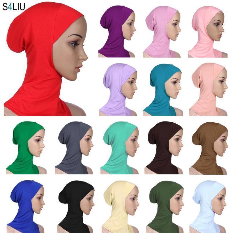 Kadın Ninja Kafa Kapak Bonnet Şapka Underscarf Müslüman Türban Lady Cap Eşarp Şapka Skullies Kasketleri Beanies Tam Kapak Bonnet Fashion1