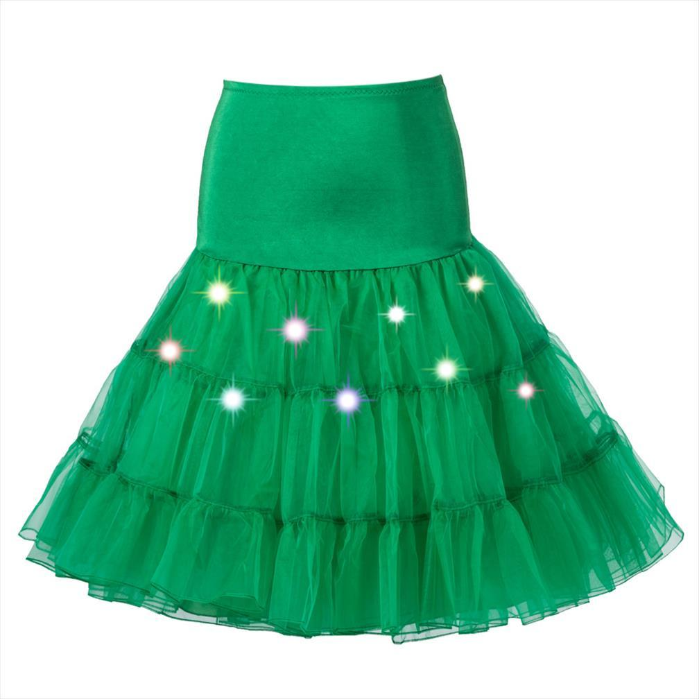 LED Tutu Swing-Rockabilly PetticoatUnderskirt Krinoline Fluffy Pettiskirt für Hochzeit Vintage Tüllrock