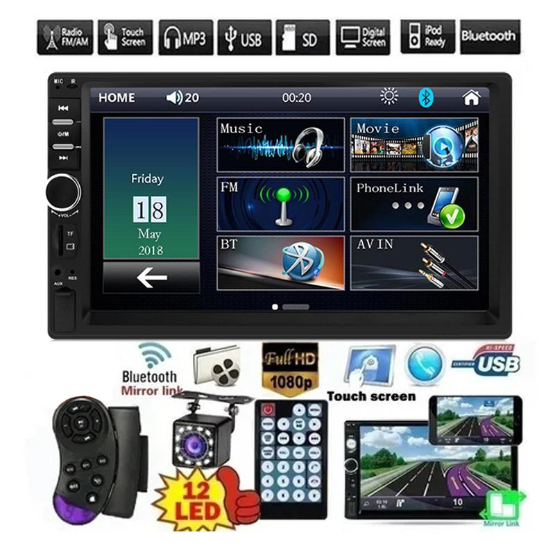"2 DIN 7 ""HD Car DVD Multimedia Player Android MirrorLink السيارات راديو السيارة بلوتوث FM USB AUX TF AUTO AUDIO VIDEO VIDERE"