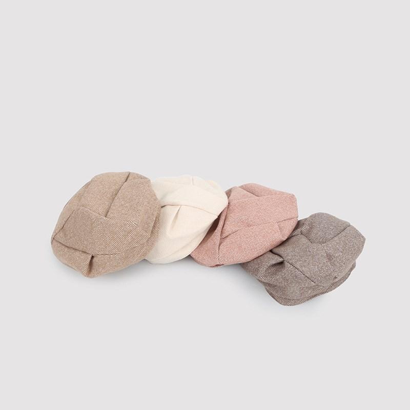 Береты весна осень зима вязаные женщины шляпа теплая шерсть берет сплошные цветные шляпы колпачки