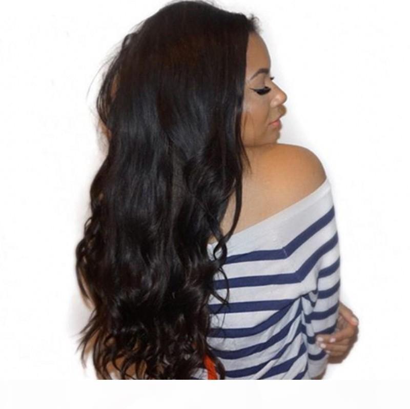 Body Wave Lace Front Human Human Wigs pré arrancado Cabelo com cabelo Baby Brazil Brasileira Perucas Cheias Branqueadas Nós