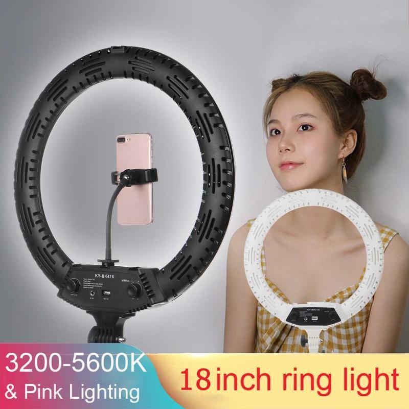 45cm / 18inch LED Ringlicht 16cm 26cm 5600K 64 LEDs Selfie Ring-Lampen-Fotografie-Beleuchtung mit Stativ-Telefon-Halter-U