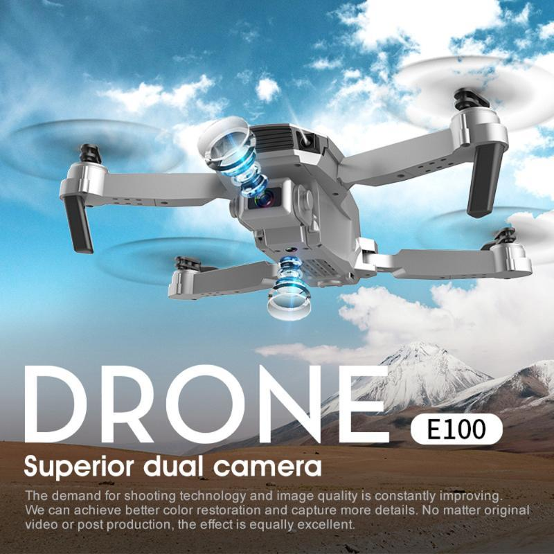 E100 FPV 무인 항공기 HD 4K 듀얼 카메라와 WiFi RC Foldable Quadcopter RC Quadcopter Professional Foldable Drones