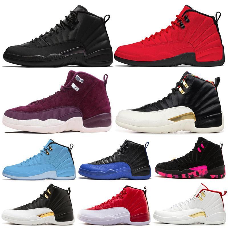 Chaussures de basket-ball 2020 12 Hotsale 12s Hommes Chaussures Doernbecher Ailes inversée Taxi Royal Game French Blue entraîneurs des hommes de sport Chaussures de sport 7-13kn4b