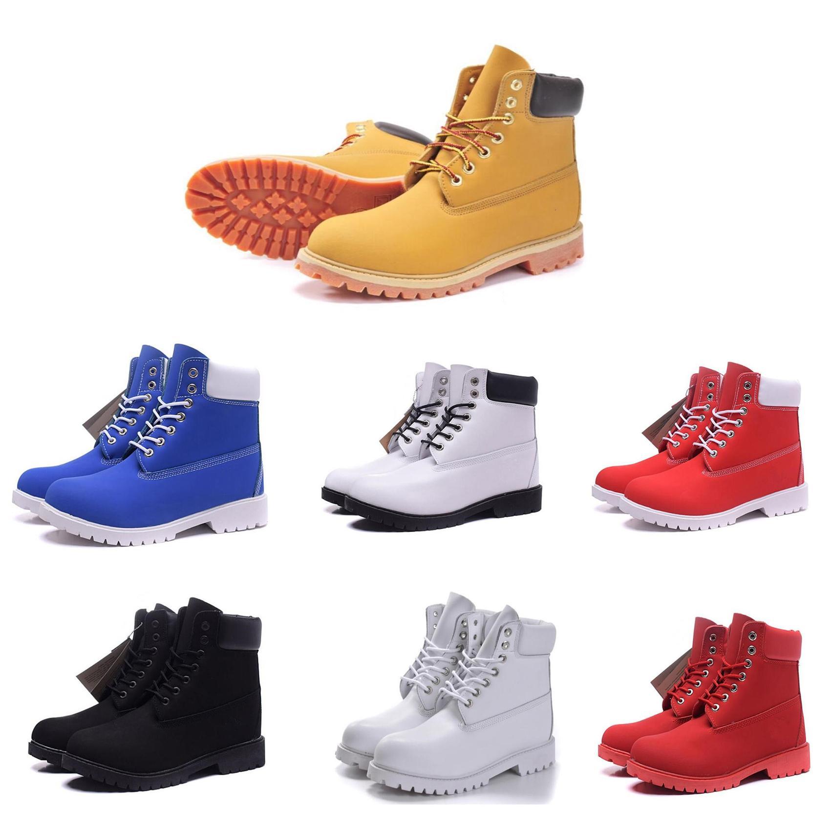 Stivali da uomo in pelle gialla in pelle gialla impermeabile moda martin boots stivali da donna all'aperto casual alpinismo bootie amante autunno scarpe invernali 11