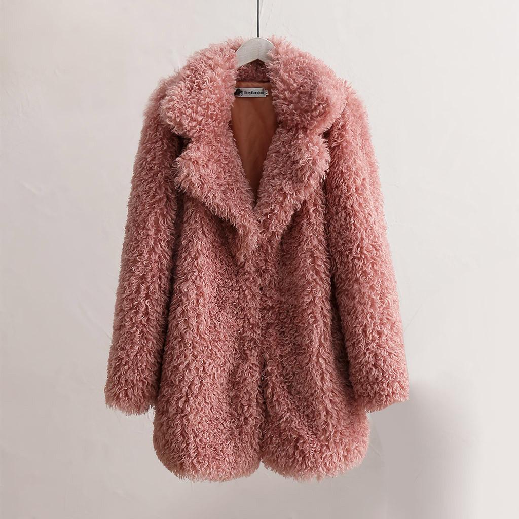 Женская большая пальто зима с длинными рукавами 200923