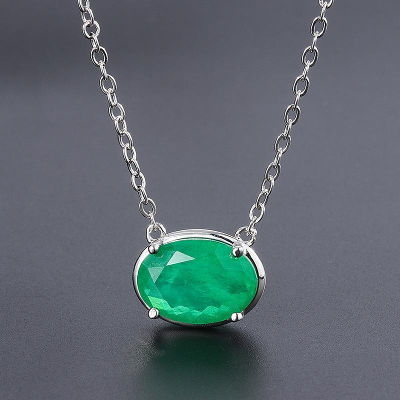 Натуральный драгоценный камень 10 * 14 мм овальные подвески ожерелье зеленый Lapis Lazuli Tiger Eye Opal горный хрусталь ювелирные изделия Джейд ожерелье женские