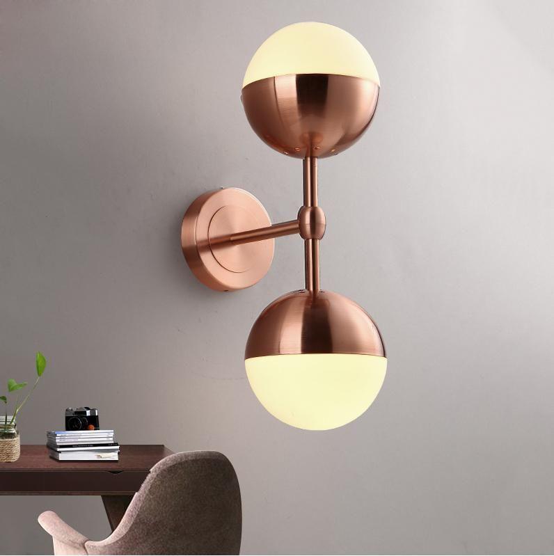 moderno de la pared Lámparas de pared bola de cristal se ilumina Iluminación para el hogar dormitorio apliques de la pared Cuerpo de iluminación de la lámpara brillo luminiare