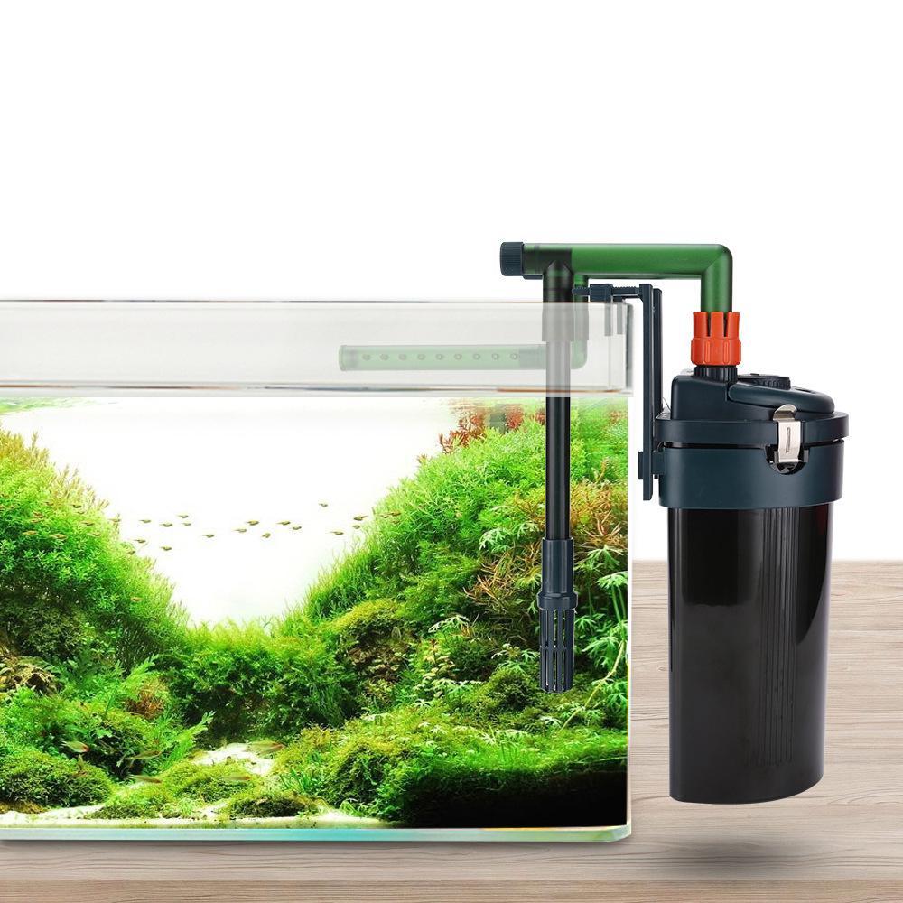 Filtre de carton externe Réservoir d'herbe d'aquarium 450l / h ultra-silencieux filtre de poisson TERAGE CIRCULATION Equipement de filtrage 220V-240V Y200917