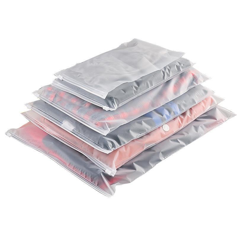100 Stück Kunststoff selbstdichtenden Beutel Kunststoff-Reißverschluss EVA Schleif Kunststoff selbstdichtende Kleidung Reißverschlusstasche Punktdruck Logo benutzerdefinierte