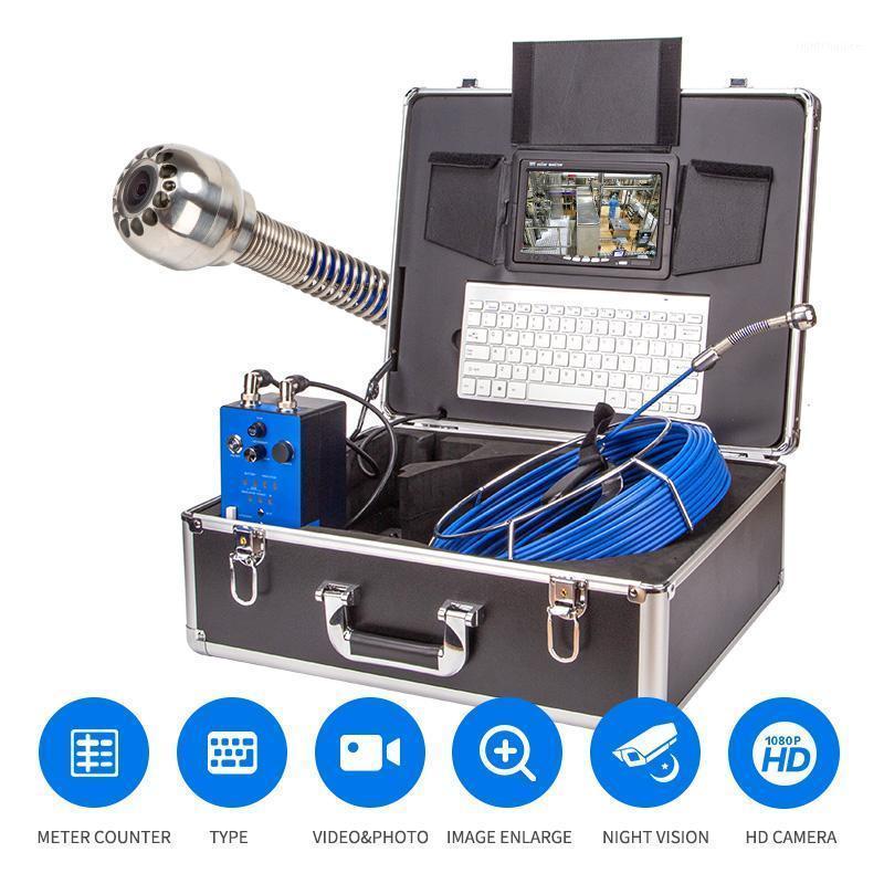 Sistema di telecamere di ispezione del tubo TFT da 7 pollici TFT 12pcs LED luci da 20 m di scarico del cavo della fibra di vetro della fibra di vetro della fognatura dell'endoscopio industriale1