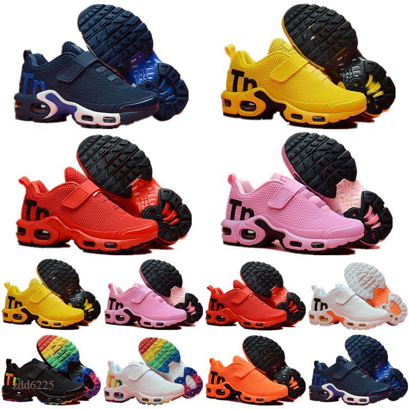 Mercurial Tn Nuovi Bambini Plus TN Bambini Casual Casual Scarpe Casual per Baby Boy e Girl Sneakers Moda Scarpe da ginnastica Bianco Scarpe per bambini
