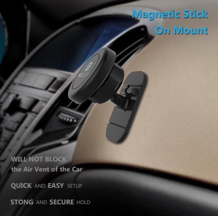 عصا عالمية على حامل سيارة جبل سيارة مغناطيسية للهواتف المحمولة والأجهزة اللوحية المصغرة مع سريعة سريعة المفاجئة لفون الهاتف المحمول سامسونج