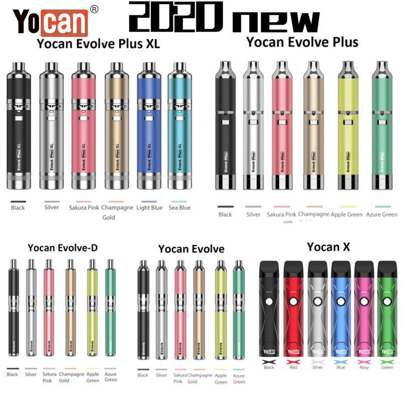 Otantik Yocan Evolve Artı Evolve Artı XL Yocan X Balmumu Vape Kalem Evolve-D Kuru Herb Buharlaştırıcı Kiti E Sigara Kitleri 100% Orijinal DHL
