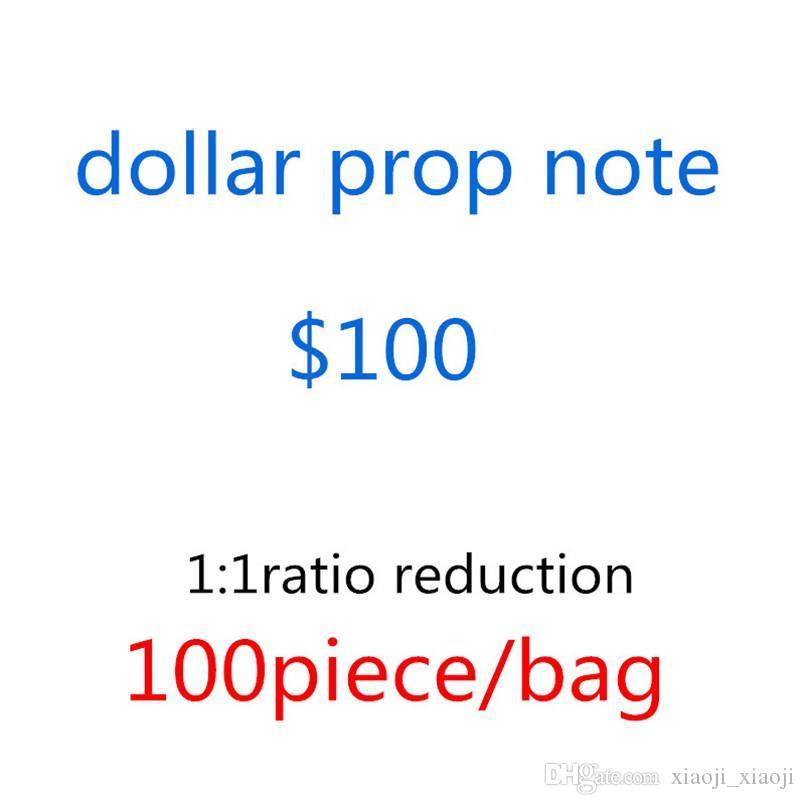 1/5/10 Papel de notas de papel falso dinheiro quente / 20/50/100 notas de cópia de cópia de USD dólares Prop preço sacos-F9 designers vendendo cehnp