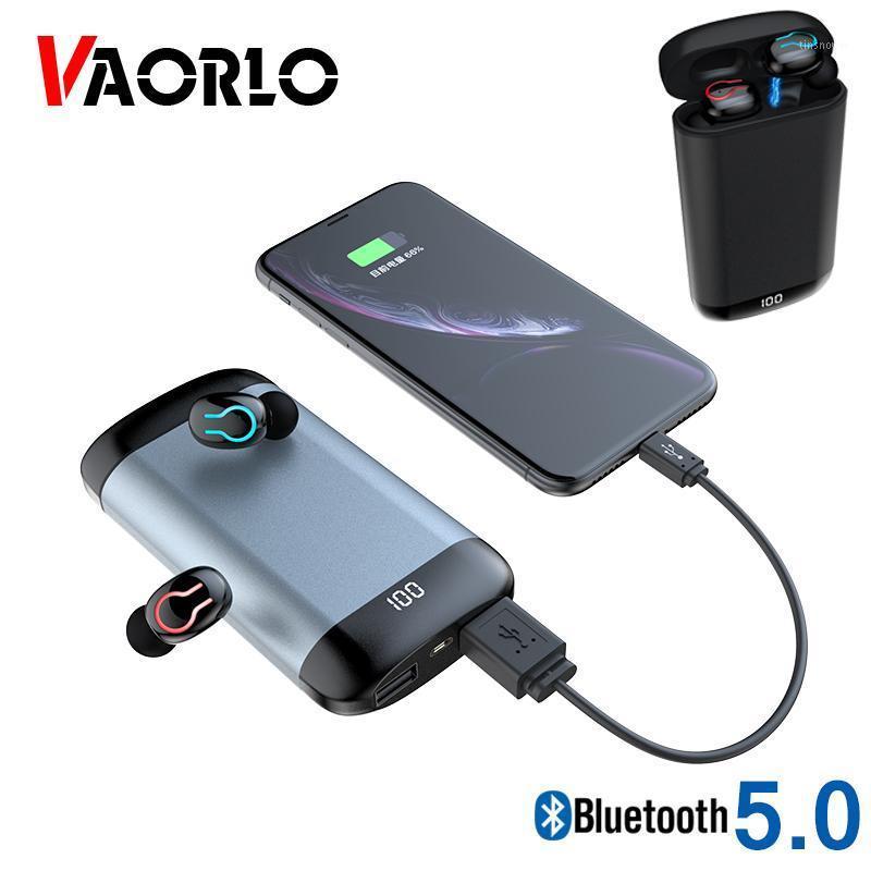 Kulaklıklar Q66 Kablosuz V5.0 Bluetooth Spor Su Geçirmez HD HiFi Stereo Mini TWS Ile Çift MIC 6000mAh Powerbank Case1