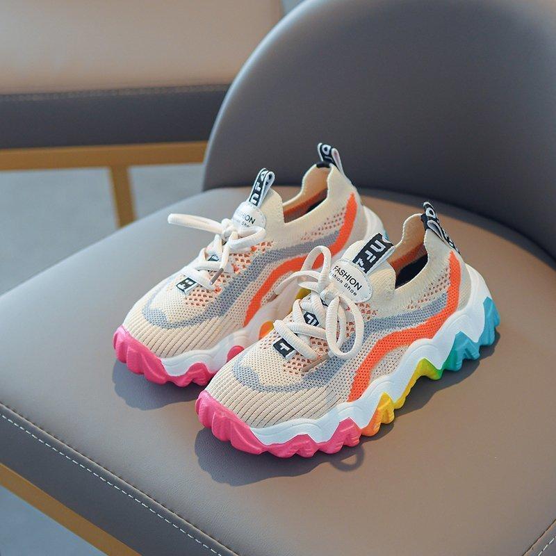 2020 herbst kinder jungen mädchen sport atmungsaktive sneakers weiche untere rutschfeste casual kinder schuhe lj201202
