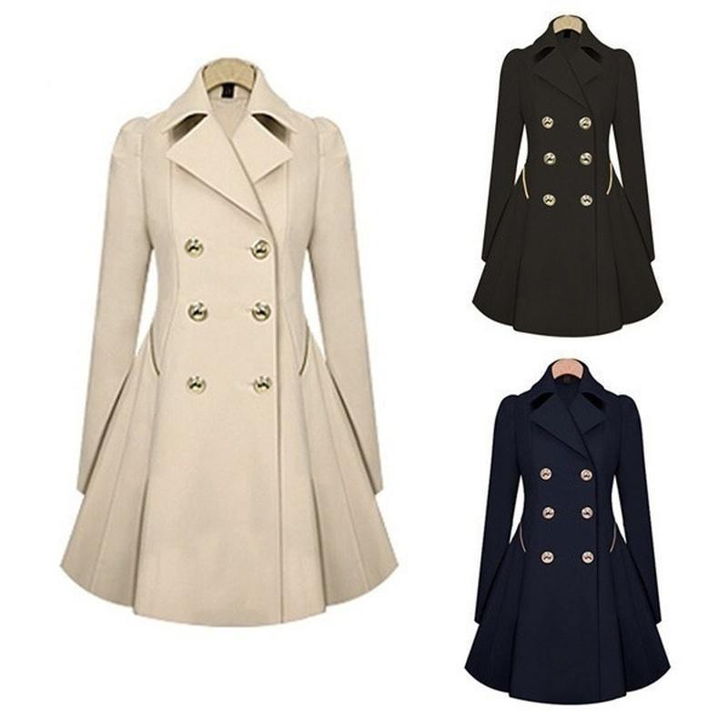Zogaa 2020 new women trench coat Autumn Women Double breasted Warm Windbreaker Causal Long ladies trench coat female Plus Size