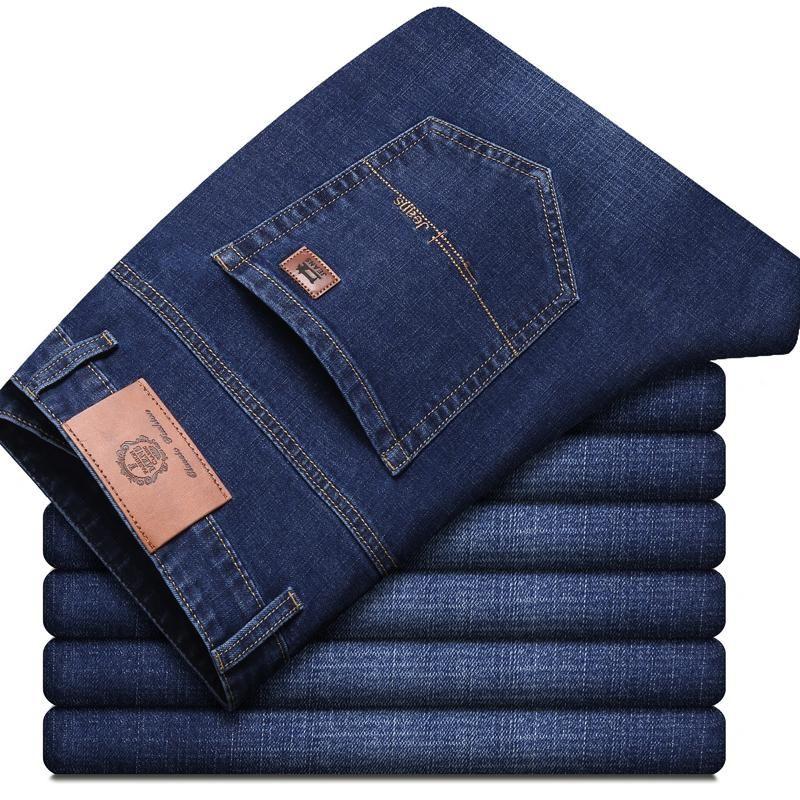 2020 nuovo modo del Mens nero blu jeans casuali degli uomini di stirata sottili dei jeans denim classico dei pantaloni più il formato 28-40 di alta qualità