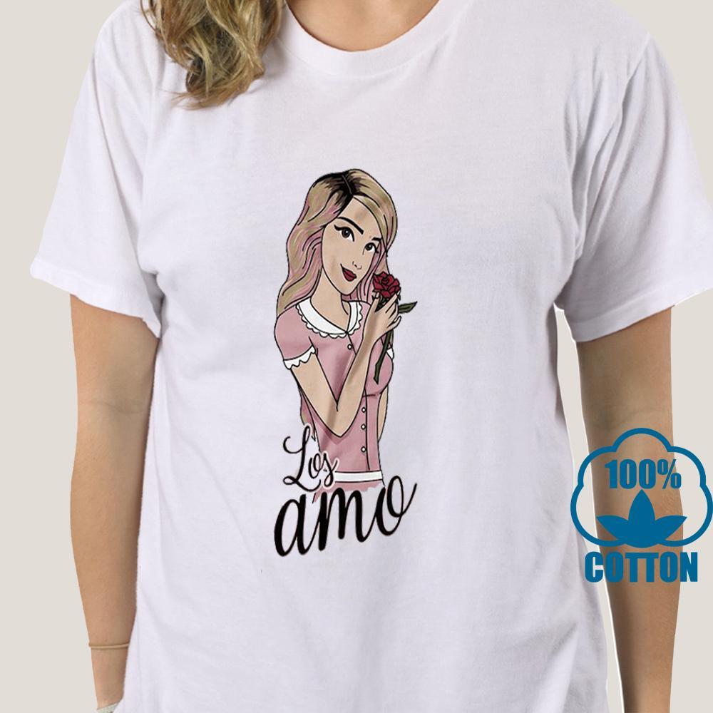 0222d Los Polinesios Playera Camiseta Lesslie Youtuber Chicas Mädchen Persönlichkeit Individuelle Sport Hoodys Hoodie-T-Shirt