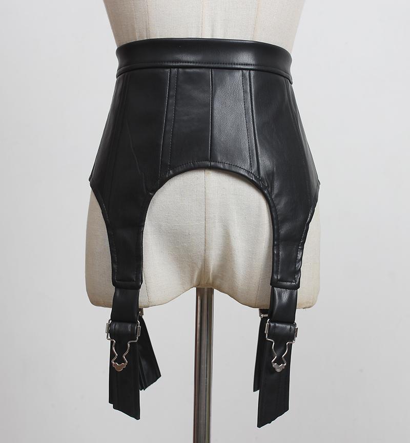 Женская взлетно-посадочная полоса мода искусственная кожа Cummerbunds женское платье корсеты талии пояс ремни украшения широкий ремень R3319 J1209