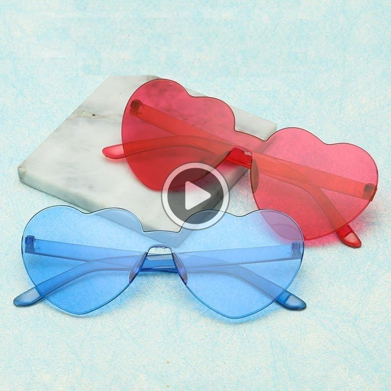 Não há coração navio pêssego forma forma dhl cores 12 Óculos de sol frame livre pc colorido unisex e den óculos óculos lentes moldura de sol tgmki