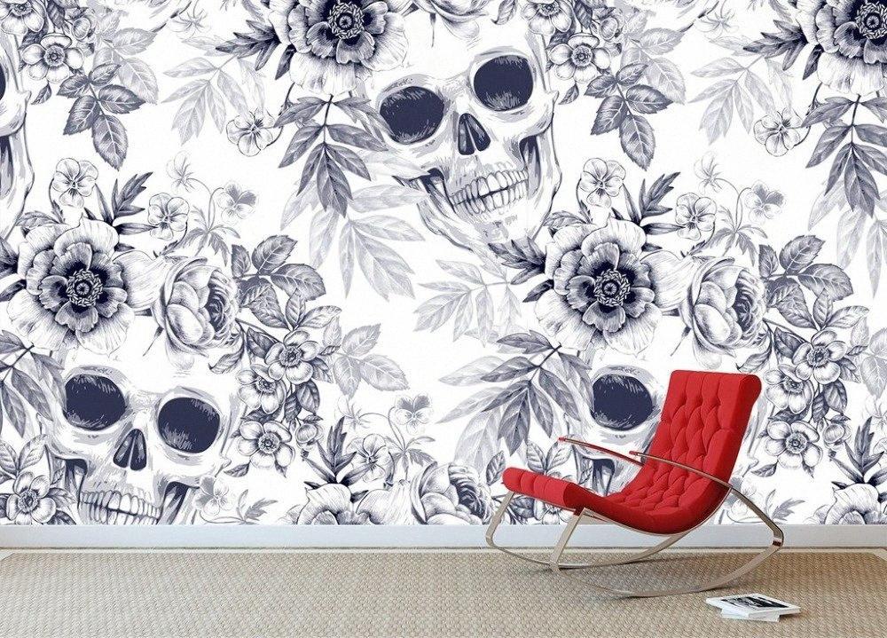[Self-Adhesive] 3D-Schädel-Textur 006 Wandpapierwandbild-Wand-Druck Aufkleber Tapeten Beum #