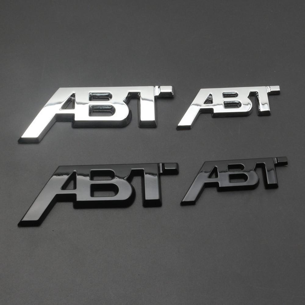 Chrome Argento Glossy Black ABT ADESIVO 3D Adesivo posteriore Body Body Badge Badge Emblem Stickers logo per Audi VW