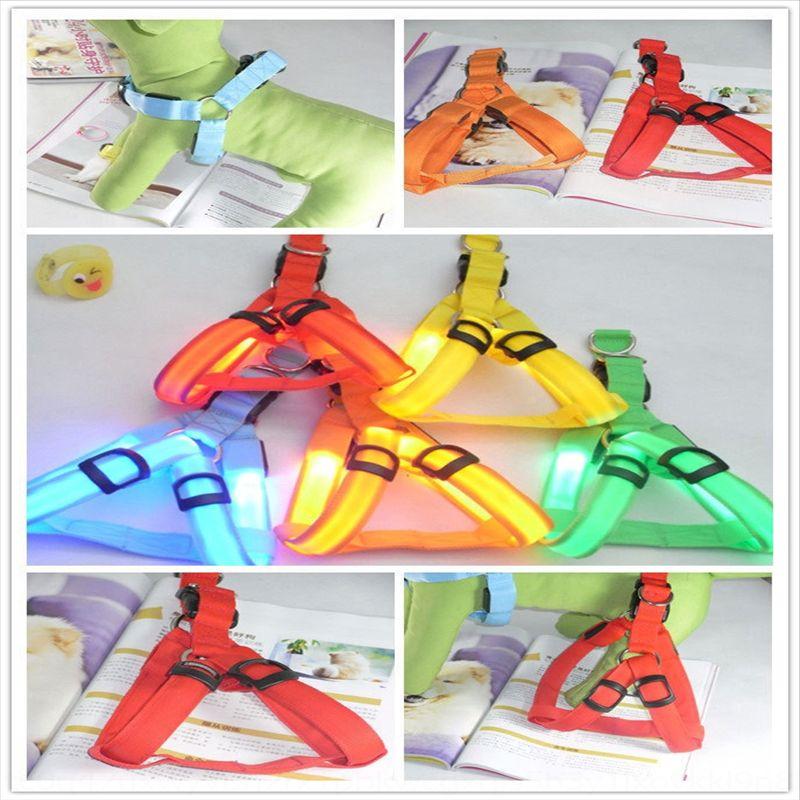 TDHTO PET PETTORE PRODOTTI LED Band pettorale Glow Luminosa Cinturino pettoraggio Grande cinturino per cani per cani luminoso