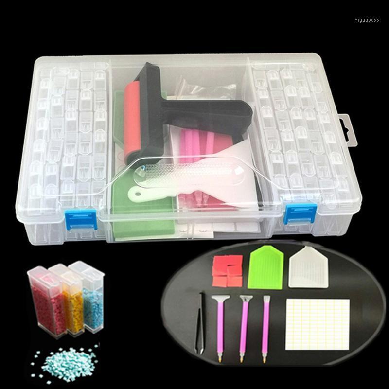 28/42/56/64 Girds 5D DIY Diamond Painting Tools Storage Box Rhinestone Container Box Diamond Painting Accessories Organizer Case1