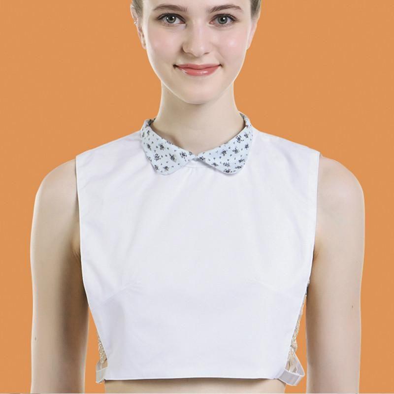 2020 Nueva falso collar Niños Camisa salvaje floral pequeño consejo suéter de cuello