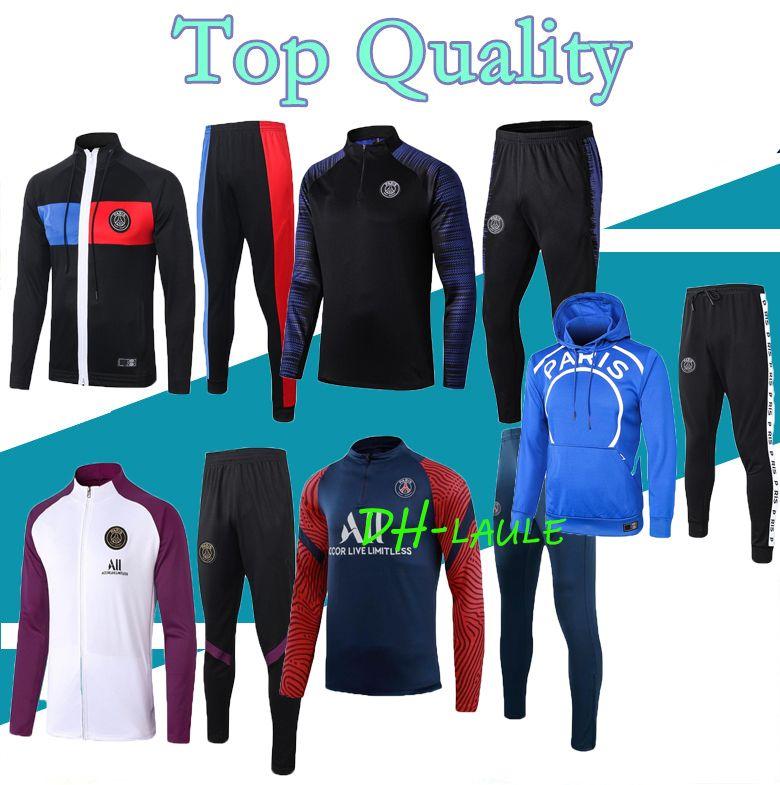 2020 2021 Париж футбол куртки костюм MBAPPE футбол спортивный костюм 20 21 Майо де футбол DI МАРИЯ ICARDI бег Париж survetemen
