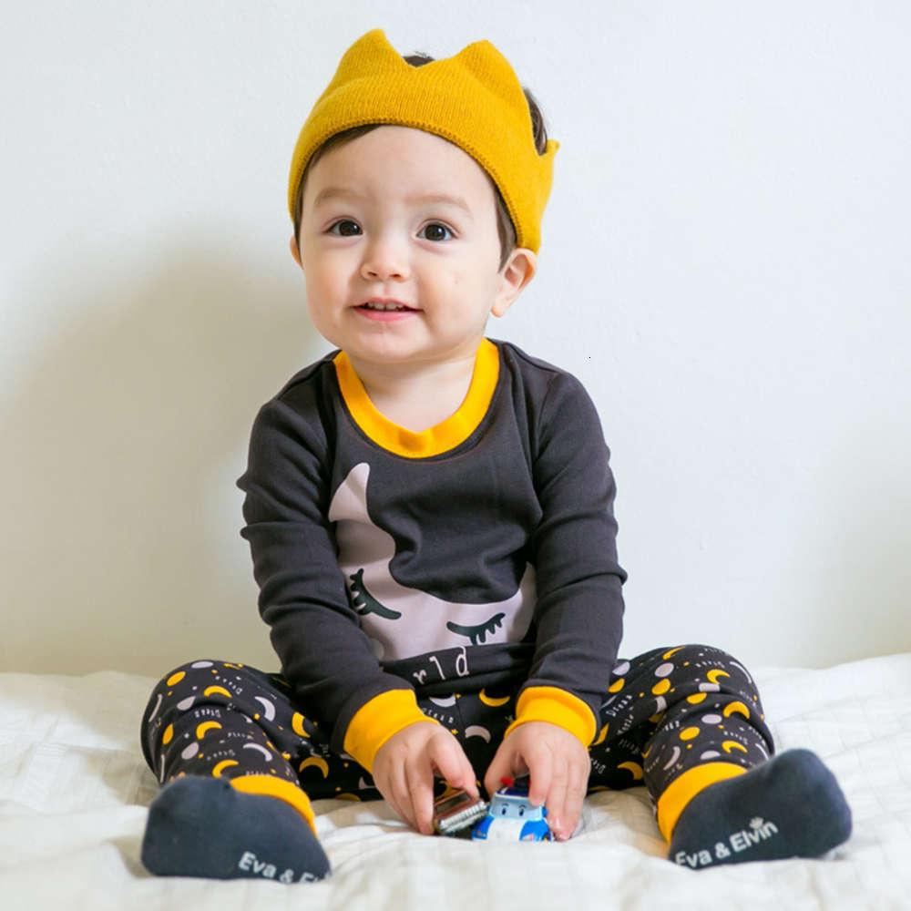 Ropa coreana Otoño e invierno Traje de invierno Dibujos animados de algodón Pijamas Hogar para niños Niñas Chicas Motor ropa interior