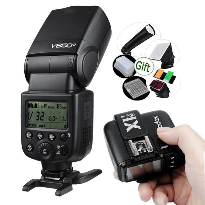 GODOX V850II 2000mAh Li-Ionen-Akku Speedlite Blitz + ransmiter X1T-C / X1T-N / X1T-S Trigger für Kamera