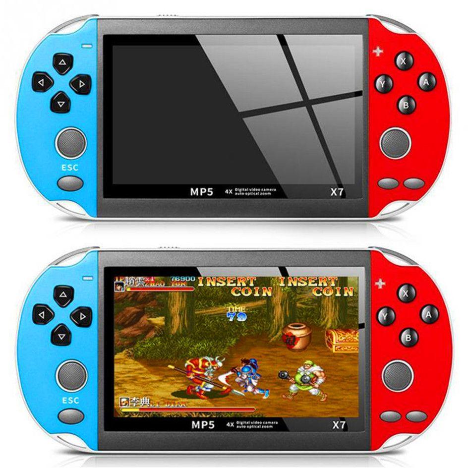 레트로 비디오 X7 게임 콘솔 플레이어 휴대용 게임기 휴대용 Portatil 미니 아케이드 비디오 게임 전자 기계 Retrogame 재생 VIDIO
