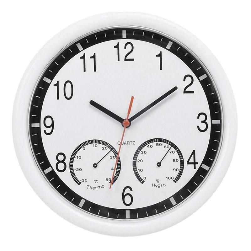Quartz Pierre Horloge Horloge murale silencieuse humidité précis intérieure Piscine extérieure Patio