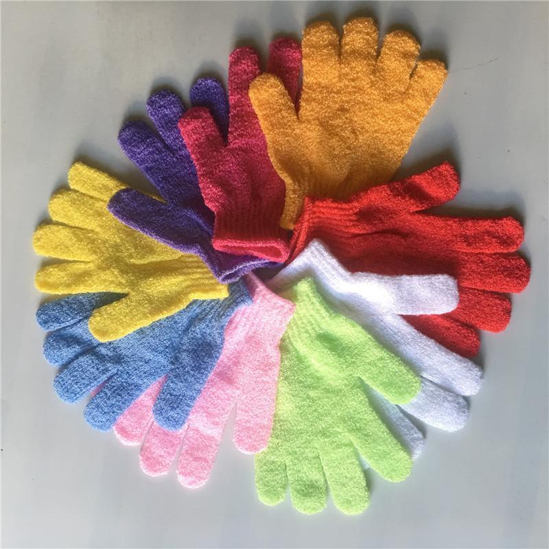 Exfoliant cinq doigts serviette de bain à double face du corps Scrubber Body Glove Gants de massage Remover peau morte de bain T9I00662