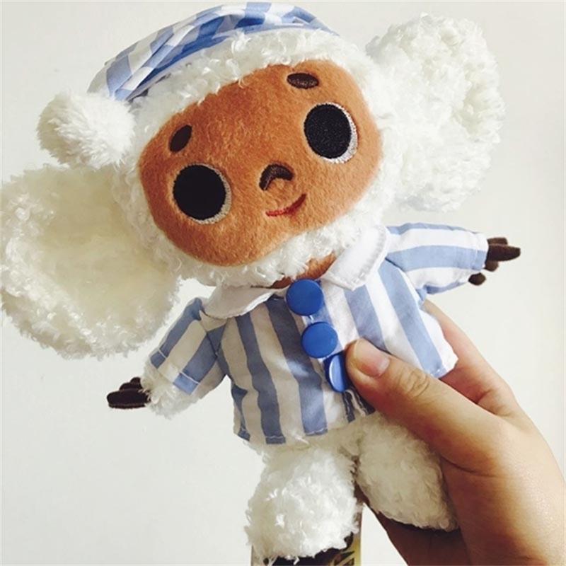 Lindo cheburashka peluche juguete grandes ojos mono con ropa suave muñeca rusia anime bebé niños dormir apaciguarse juguetes para niños 201216